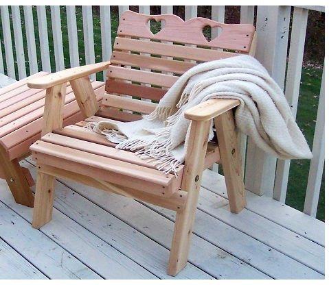 - Cedar Country Hearts Patio Chair