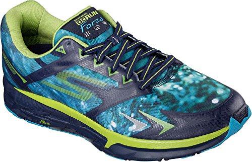 Zapatillas Para Correr Skechers Hombres Gorun Forza Climate Series Navy / Lime