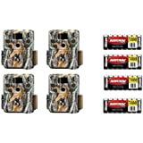 Browning Trail Cameras Strike Force Pro 18MP Game Cameras BTC5HDP, 4 Pack + 4 Rayovac Ultra Pro Alkaline Batteries AA 8/Pack