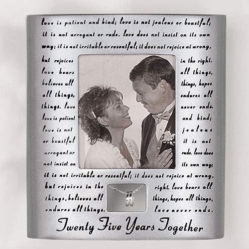 Roman 25th Silver Wedding Anniversary Picture Photo Frame ()