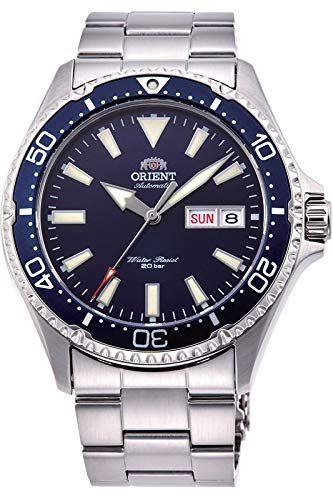 Orient RA-AA0002L Men's Kamasu Stainless Steel Blue Bezel Blue Dial Automatic Dive Watch