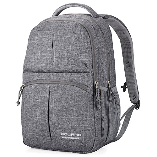 Price comparison product image Bolang Water Resistant Nylon School Bag College Laptop Backpack 8459 (Grey)