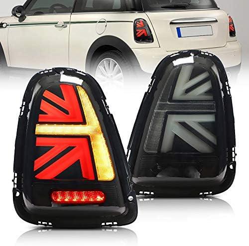 Vland Led Rücklichter Für Mini Cooper R56 R57 R58 R59 Union Jack 2008 2013 Mit Gelbem Blinker Uk Lager Rauchglas Auto