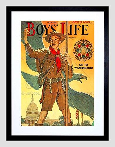 Comics Boys Life BOY Scout Eagle White House Jamboree Framed Art Print B12X3287