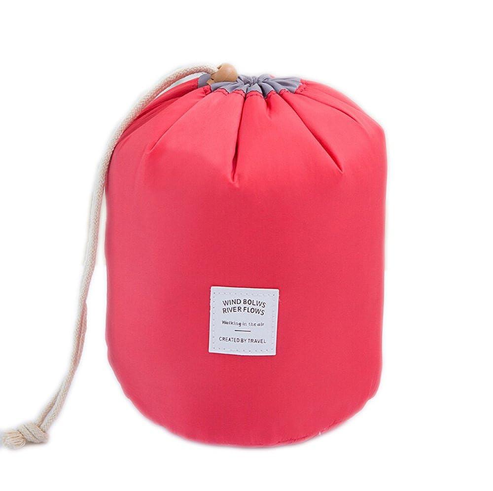 Multifunctional Waterproof Barrel Shaped Travel Cosmetic Bag Large Capacity Travel Makeup Organizer Storage Bags