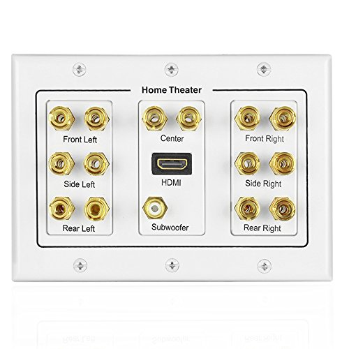 speaker wire cover plate amazon com rh amazon com HDMI and Coaxial Wall Plate HDMI Wall Plates and Connectors