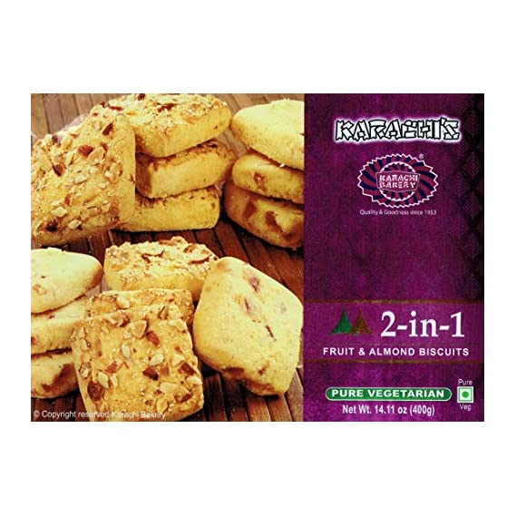 Karachi Bakery 2 in 1 Fruit and Almond Biscuits Gift Pack (400 g)