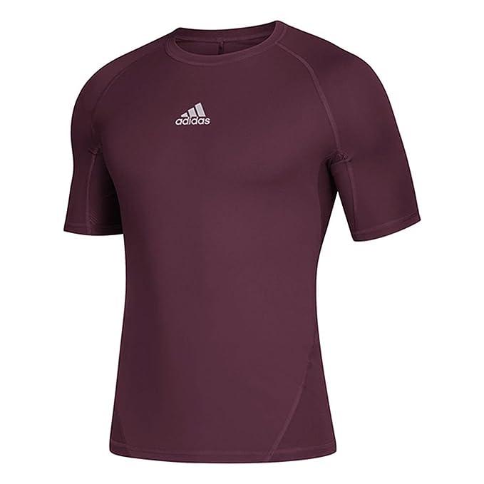 c87d10b4a2d0 adidas Men's Training Alphaskin Sport Short Sleeve Tee, Maroon, X-Small