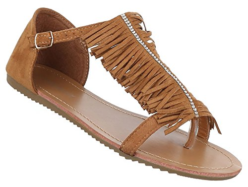 Damen/Damen Sommer/Urlaub/Strand Sandalen/Schuhe, Braun - braun - Größe: 38