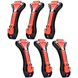 Black Menba Muti-Function Car Safety Hammer-Seatbelt Cutter And Glass Window Punch Breaker for Survival(package of 6)