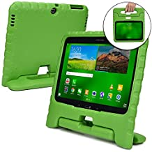 Samsung Galaxy Tab 4 10.1 case for kids, fits Galaxy Tab 3 10.1 [SHOCK PROOF KIDS TAB 10.1 CASE] COOPER DYNAMO Kidproof Child Tab 4 10.1 inch Cover for Boys Girls | Kid Friendly Handle & Stand (Green)