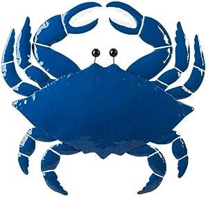 Ganz CB173832 Blue Crab Wall Decor, 27-inch Width, Metal