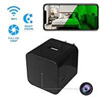 Hidden Spy Camera - Wireless Home USB Security Camera with Charger - Best Mini Spy Cam WiFi 1080p - Night Vision Security Spy Camera with Motion Detector - Small Nanny Spy Camera for Women Men