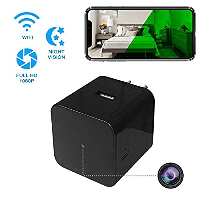 SpyGear-Hidden Spy Camera - Wireless Home USB Security Camera with Charger - Best Mini Spy Cam WiFi 1080p - Night Vision Security Spy Camera with Motion Detector - IPS IP Smart