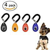 Dog Training Clicker with Wrist Strap - Click with Big Button Training System Clicker Training for Pet Puppy Cat Birds Horses 4 Packs