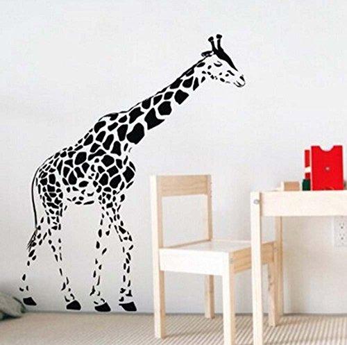 Animal Giraffewall Decal Sticker Baby Kids Living Room Stickers Vinyl Right Face