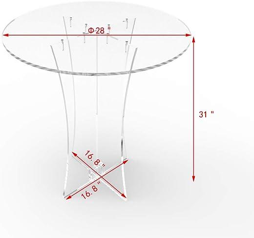 FixtureDisplays Clear Acrylic Table