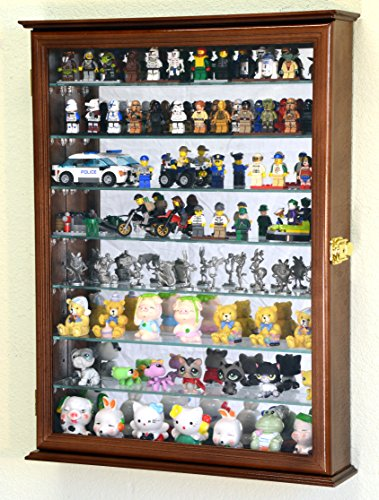(sfDisplay.com,LLC. Large Minifigures/Star Wars/Disney/Minature for Lego Men Figurines Display Case Cabinet w/Adjustable Shelves (Walnut Finish))