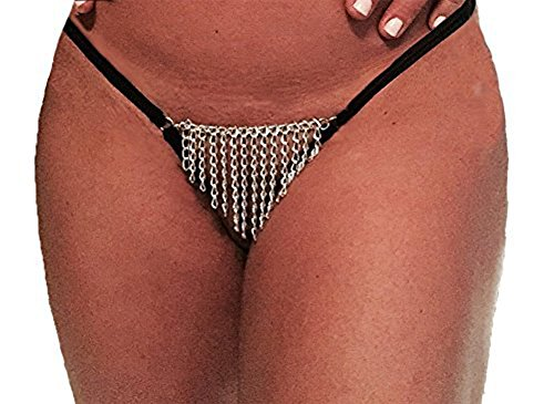 Body Chain Front Crotchless Thong product image