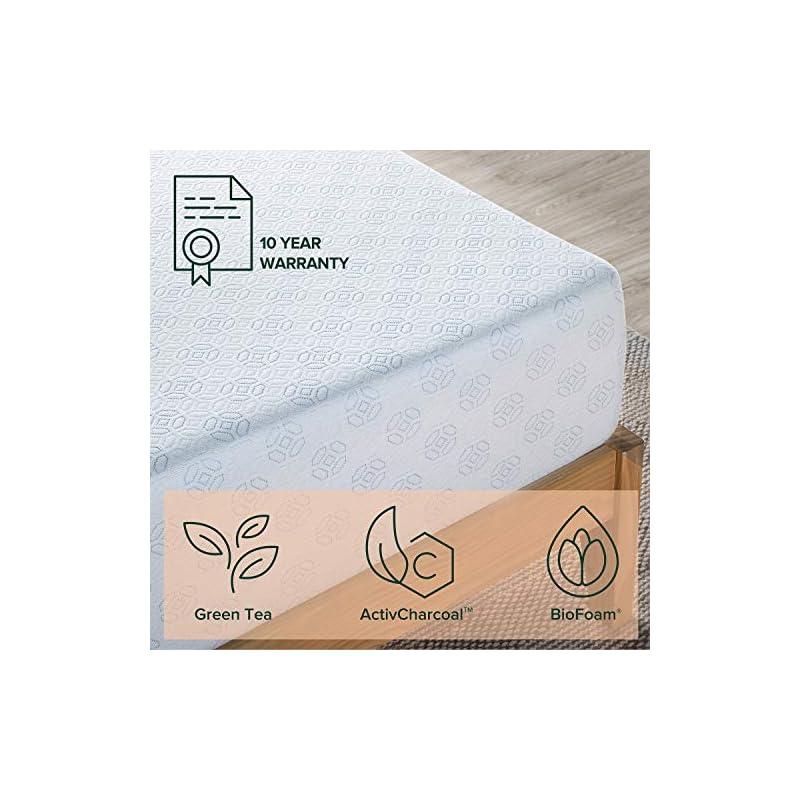Zinus 10 Inch Gel-Infused Green Tea Memory Foam Mattress / Cooling Gel Foam / Pressure Relieving / CertiPUR-US Certified…