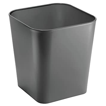 Amazoncom Mdesign Metal Square Small Trash Can Wastebasket