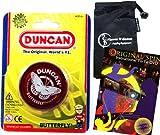 Duncan BUTTERFLY YoYo (Red) Beginners Entry-Level Yo Yo with Travel Bag + 75 Yo-Yo Tricks DVD! Pro YoYos For Kids and Adults.