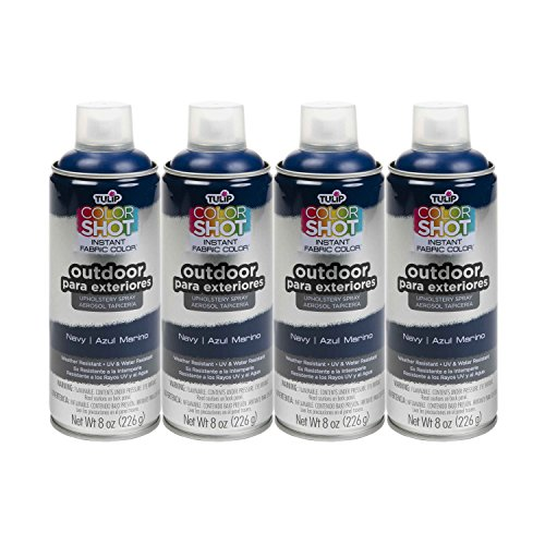 (Bulk buy: Tulip ColorShot Outdoor Upholstery Spray Paint 8 oz. 4-pack, Navy)