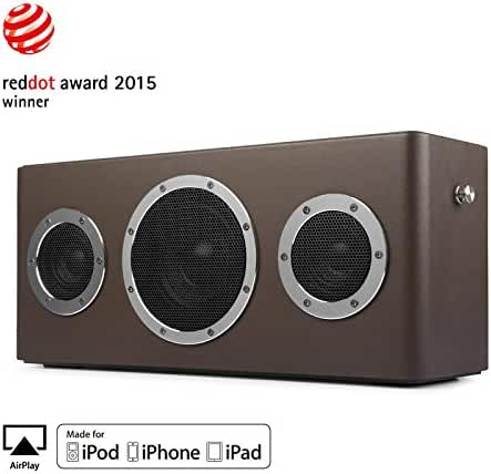 [Apple Airplay Certified]GGMM M4 Wireless Speaker for Music Streaming,Wi-Fi Bluetooth Indoor Outdoor Speaker, Built-in Battery,10-Hour Playtime,Powerful 40W Audio Driver,Enhanced Bass,Multi Room Play
