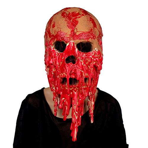 MISHIN Halloween Horror Latex Bloody Full Head Zombie Mask Haunted House Movie Props
