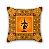 NICEPLW Bohemian throw pillow covers 16 x 16 inches / 40 by 40 cm for study room,lounge,home,kids,home office,girls with twin sides