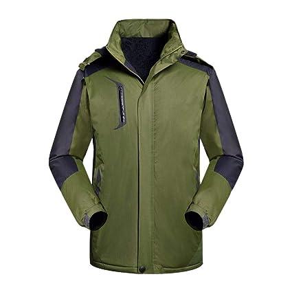 e8068e3c5 Amazon.com: Escolourful Men's Hooded Outdoor Jacket Hiking Winter Warm Thick  Waterproof Windbreaker Rain Jacket Winter Warm Ski Rain Coat: Sports &  Outdoors