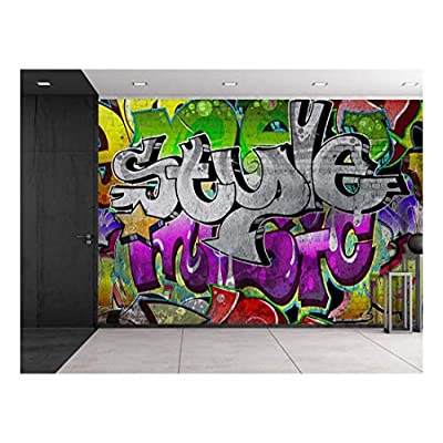 Marvelous Work of Art, Colorful Graffiti Large Wall Mural Removable Peel and Stick Wallpaper, With Expert Quality