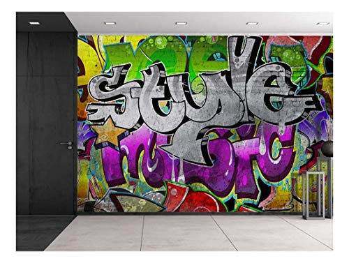 wall26 - Colorful Graffiti - Large Wall Mural, Removable Peel and Stick Wallpaper, Home Decor - 100x144 inches by wall26 (Image #6)
