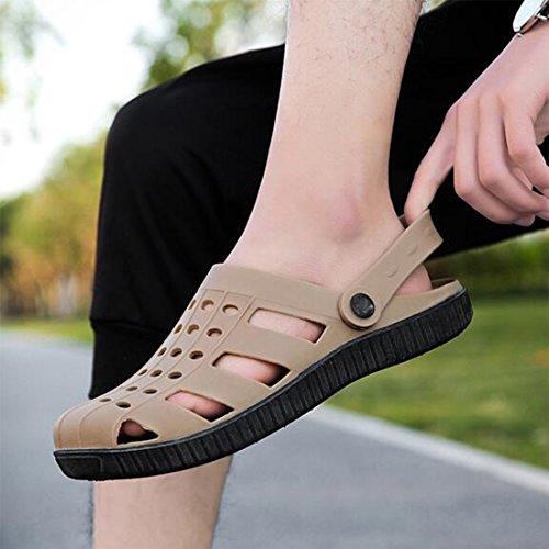 Verano Hombres De Brown Soft Shoes De Zapatillas Outdoor Los De Slip Sandalias Beach Slip IpFYq5