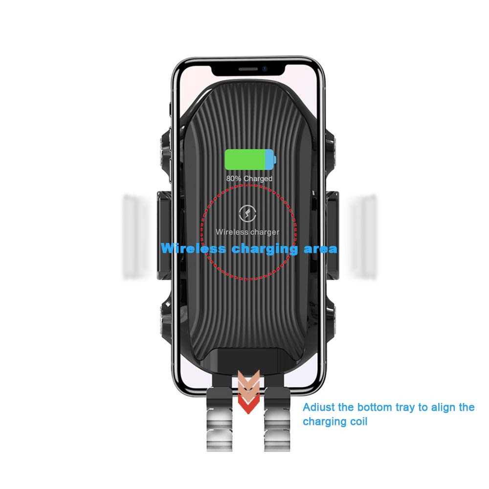AMYBT Wireless Charger car Mount,10W Qi Fast Charging Auto-Clamping Mount Windshield Dashboard Air Vent Phone Holder Compatible with iPhone Xs//Xs Max//XR//X// 8//8 Plus Samsung S10//S10+//S9//S9+//S8//S8+