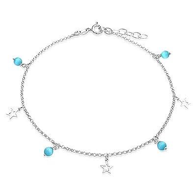 Bling Jewelry Abraestrella Encanto Gatos Aqua Azul Eye Cordón ...