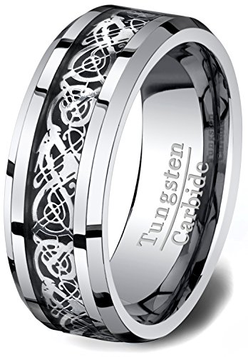 Wedding Tungsten Polished Beveled Comfort product image