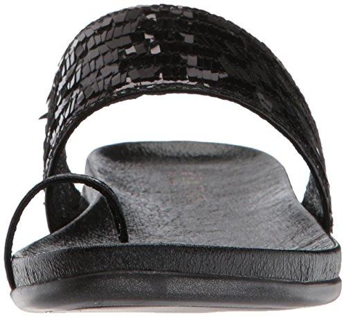 Kenneth Cole Reaction Women's Slim Tricks 2 Toe Ring Sandal Black GmbVma