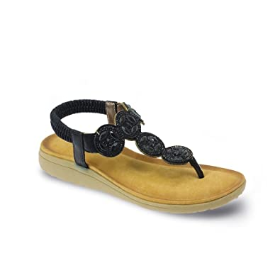 8e847c7298ef Lunar Dulcie Toe Post Sandal in Pewter