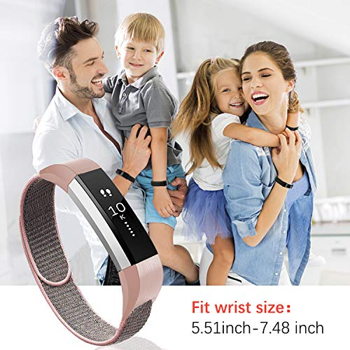 Soft Nylon Breathable Sport Wristbands for Women Man Kids Quick Release Replacement Wristband Accessories for Ace Alta HR Fitness Tracker VEAQEE Compatible Alta Ace Nylon Bands