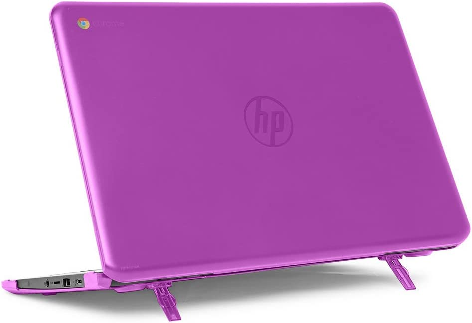 "mCover Hard Shell Case for 14"" HP Chromebook 14 G5 / 14-CA / 14-DB Series (NOT Compatible with Older HP C14 G1 / G2 / G3 / G4 Series) laptops (HP C14-G5 Purple)"