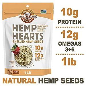 Manitoba Harvest Hemp Hearts Raw Shelled Hemp Seed...