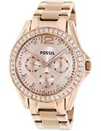 Womens 38mm Riley Multifunction Rose Goldtone Dial Watch