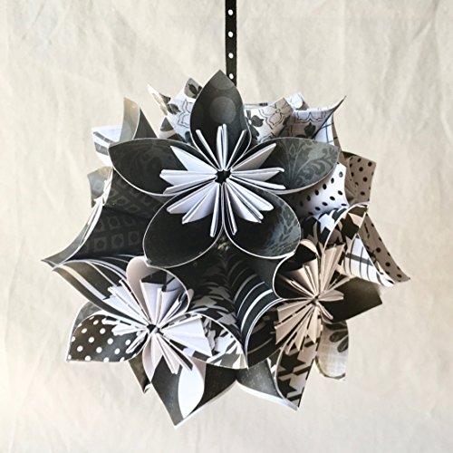 Black & White Origami Ornament