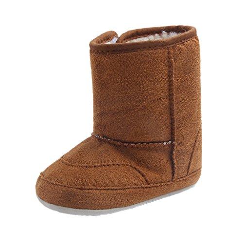 MagiDeal Winter Baby Schuhe Kinder Mädchen Jungen Stiefel Warm Schuhe Schneestiefel Braun