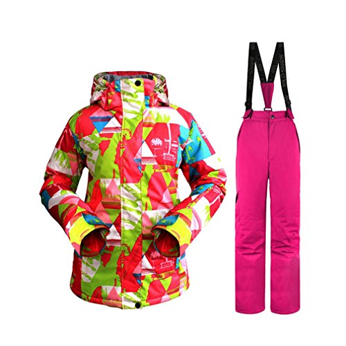 Liobaba Snow Ski Suit, Snowsuit For Women, Professional Winter Snow Ski Jacket Pants Suit, Waterproof and Windproof for sale