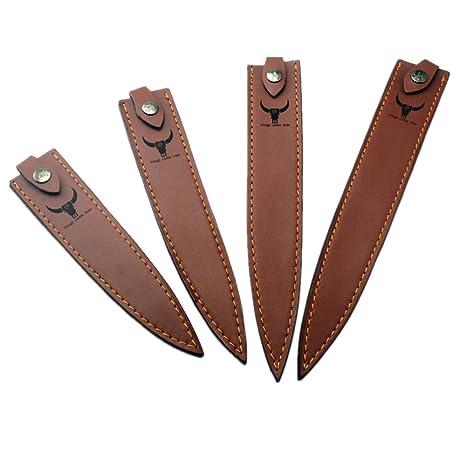 Aibote - Funda de piel para cuchillo Sashimi con trabilla ...