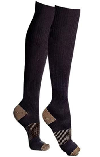 609e7288dea015 Copper Compression Knee High Recovery Support Socks, GUARANTEED Highest  Copper Content! Best Copper Infused