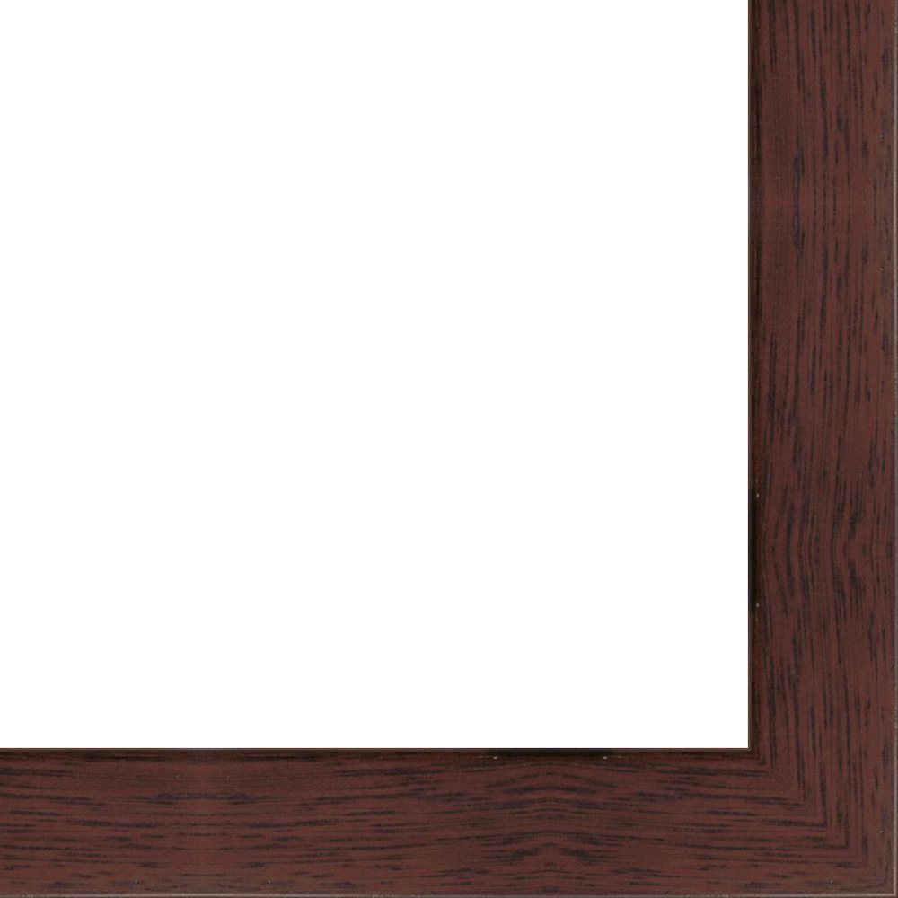 27x40 - 27 x 40 Mahogany Flat Solid Wood Frame with UV Framer's Acrylic & Foam Board Backing - Great For a Photo, Poster, Painting, Document, or Mirror