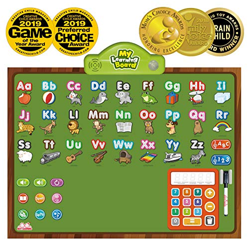 (BEST LEARNING i-Poster My Learning Board - Electronic Interactive Educational Talking Alphabet Numbers Music Poster Toy for Kids Boys & Girls 2 3 4 5 6 Years Old Daycare Preschool Kindergarten )